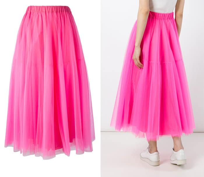 PAROSH Long Tulle Skirt