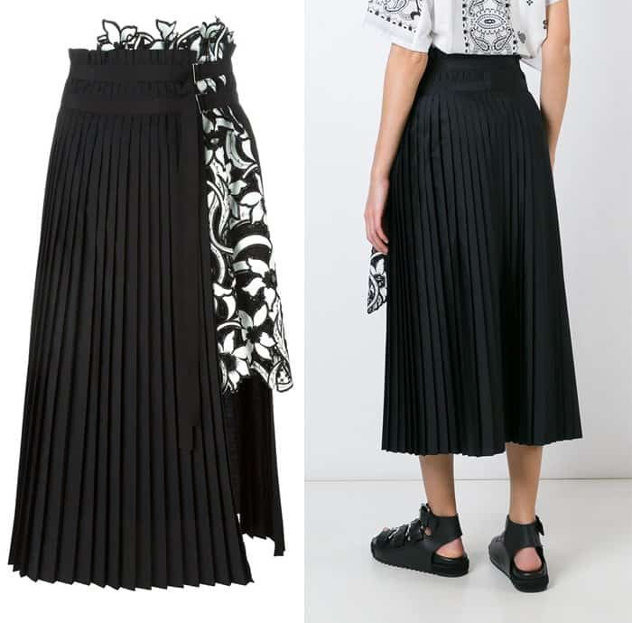 Sacai Pleated Aline Skirt
