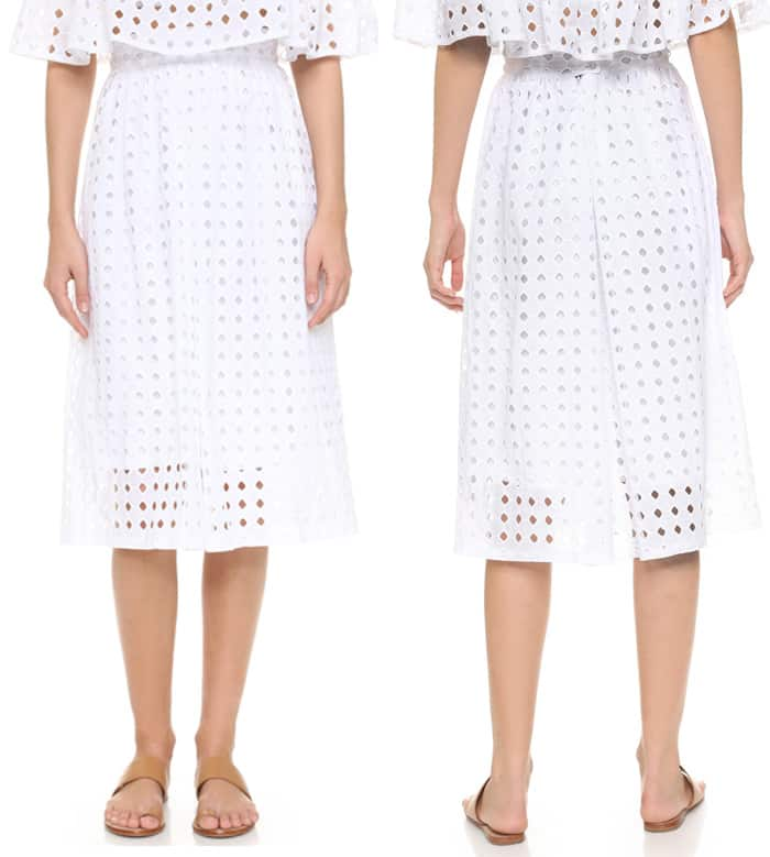 Clayton Vernon Eyelet Skirt