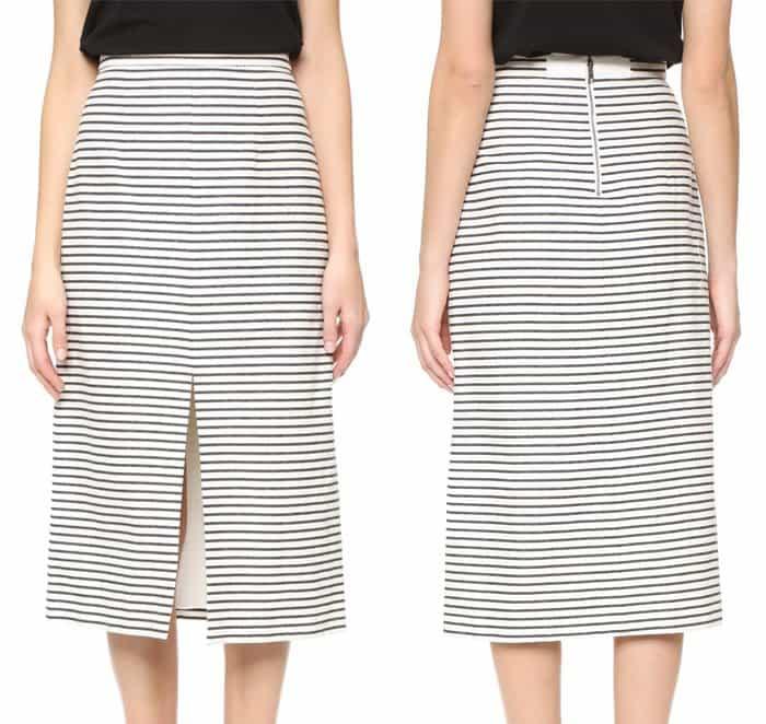 Alice + Olivia Sabrena A Line Midi Skirt