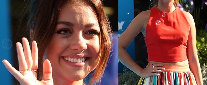 Sarah Hyland Attends 'Finding Dory' Premiere in Alice + Olivia Rainbow Skirt