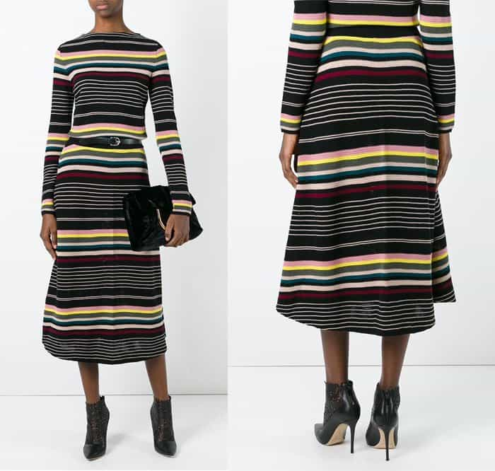 antonio-marras-striped-a-line-skirt
