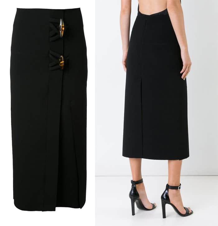 christopher-esber-dual-knot-resin-vent-skirt