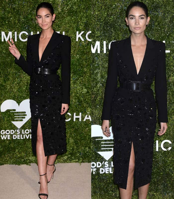 lily-aldridge-michael-kors-ensemble2